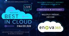 bestincloud enova365 najlepszym produktem ERP/CRM