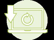 ikona komputer pobierający aktualizację systemu ERP enova365