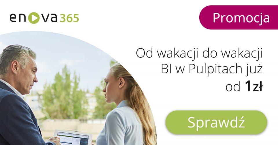 Promocja na nowy moduł dodatkowy BI w Pulpitach