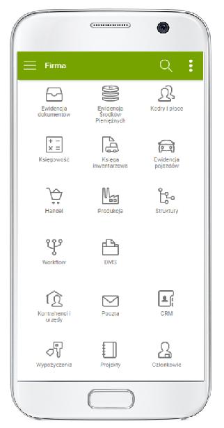 enova365 system ERP dostępny na urządzenia z systemem Android