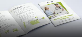 Okładka i środek e-booka, poświęconego elektronicznej dokumentacji kadrowej (e-teczkom)
