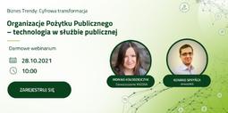 webinar Organizacje Pożytku Publicznego - technologia w służbie publicznej